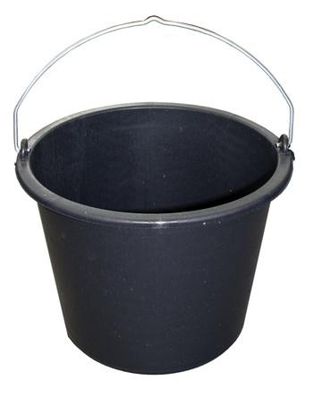 Seau de maçon - PE noir 20L Solid