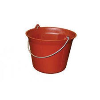 Seau de maçon - PE + caoutchouc, rouge 11L Solid
