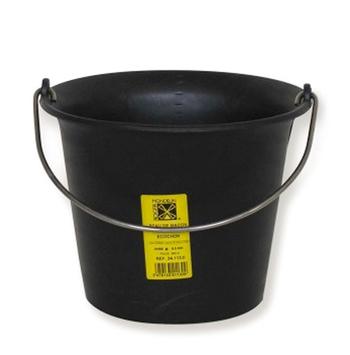Seau de maçon caoutchouc noir 11L Solid