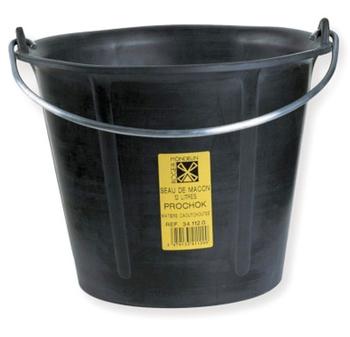 Seau de maçon caoutchouc PROCHOK noir 12L Solid
