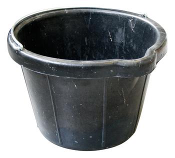 Seau de maçon caoutchouc avec bec verseur noir 12L Solid