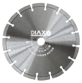 3 Disques diamantés 230mm Laser Beton Pro construction Prodiaxo pour béton armé