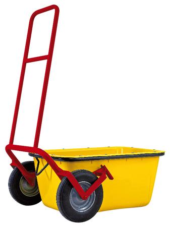 Chariot de transport pour auge à mortier renforcé avec bande en acier Wemas