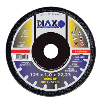 Disques à tronçonner INOX/ACIER Premium construction Prodiaxo