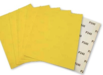 Papiers à ponçer Jaune 230x280mm Prodiaxo