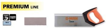 Scie à dos, fine denture trempée hardpoint Premium Line G-man