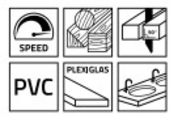 5 Lames de scie sauteuse pour bois WS100CV Stenroc