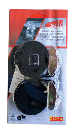 Sangle type ceinture avec boucle en zamac vendu par paire